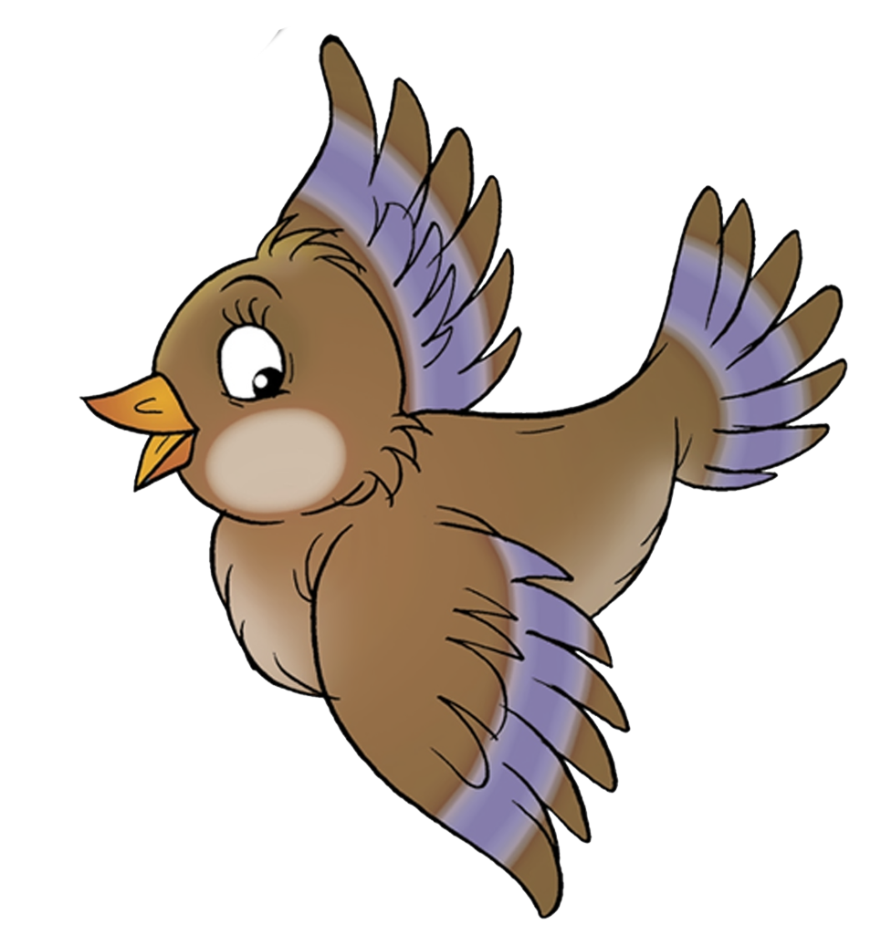 Flying sparrow clipart